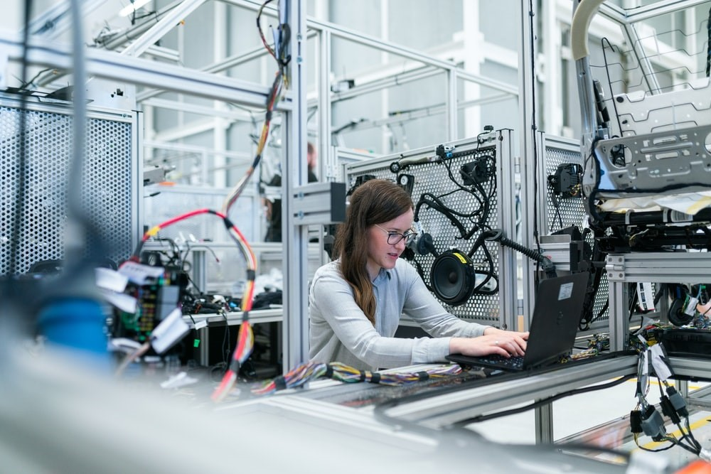 female-engineer-working