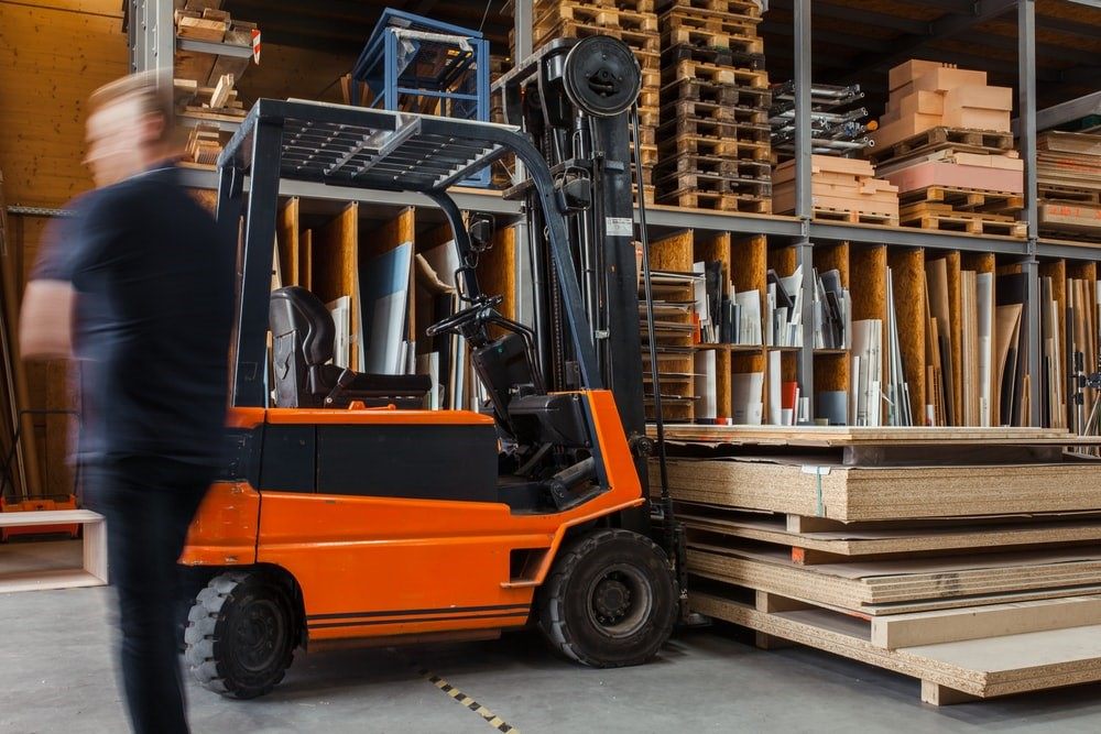 inventory in a timber warehouse
